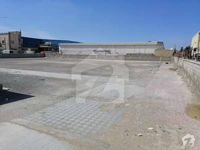 2 Acre Warehouse Land In Western Industrial Area Of Port Qasim Authority With Boundary Wall On Main Road Just Opposite To Indus Motor
