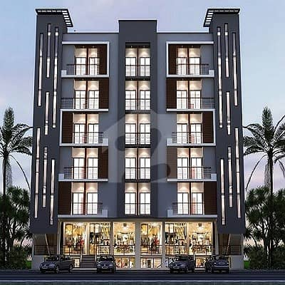 Cloud Emporium Gulberg Greens  1 Bedroom Apartment  With Living Room Is Available  For Sale