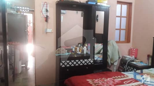 Flat 4th floor 2 rooms kitchen Allah Wala town korangi crossing sector 31 b 1st block Karachi