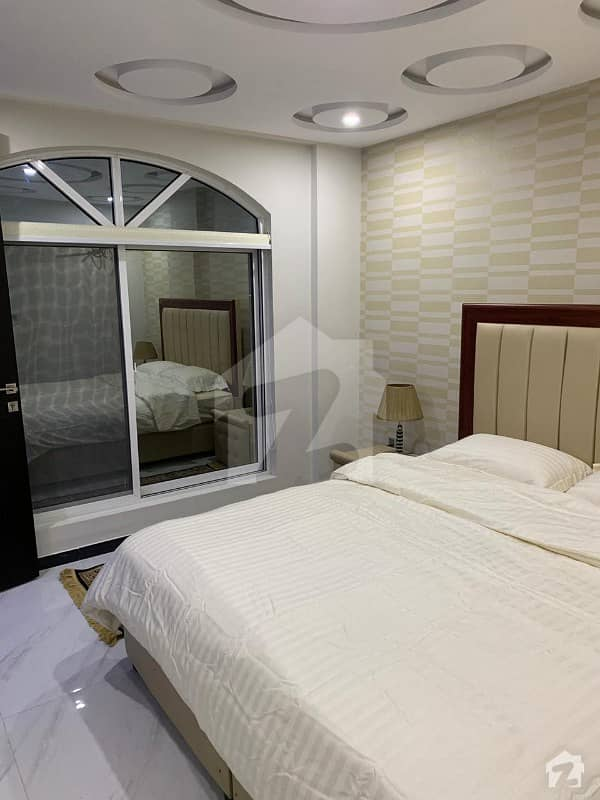 Fully Furnished Beautiful 550 Square Feet Flat available for rent in Sector C  Bahria Town