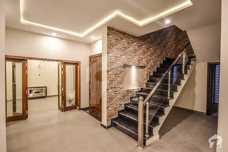 DHA Lahore 1 Kanal Brand New Splendid Design Bungalow Magnificent Front Elevation