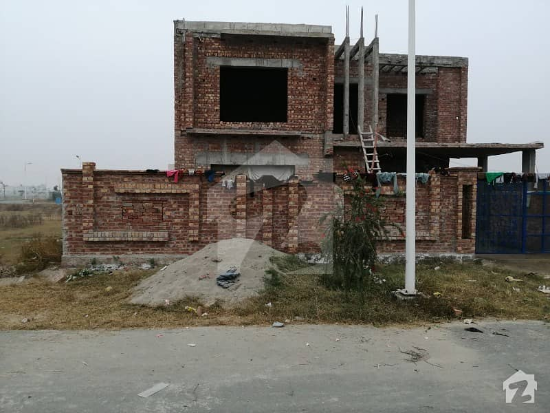 Dha Phase 7 Block  U 1 Kanal Grey Structure House For Sale With Basement