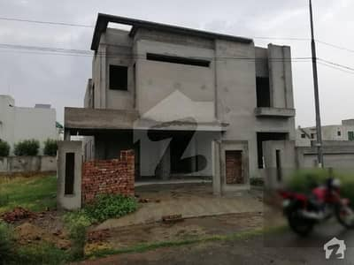 Beautiful Builder Location 1 Kanal Gray Structure House For Sale In C Block Eden City Lahore