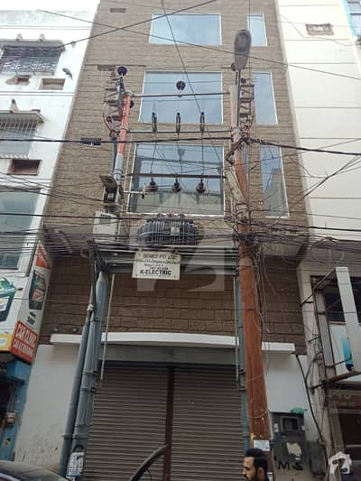 100 Sq Yards Ground Four Office Building For Sale