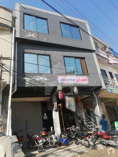 Three Storey Plaza Fro Sale In Pakistan Town Good Rental Income 2 Ground Shops 2 Flats