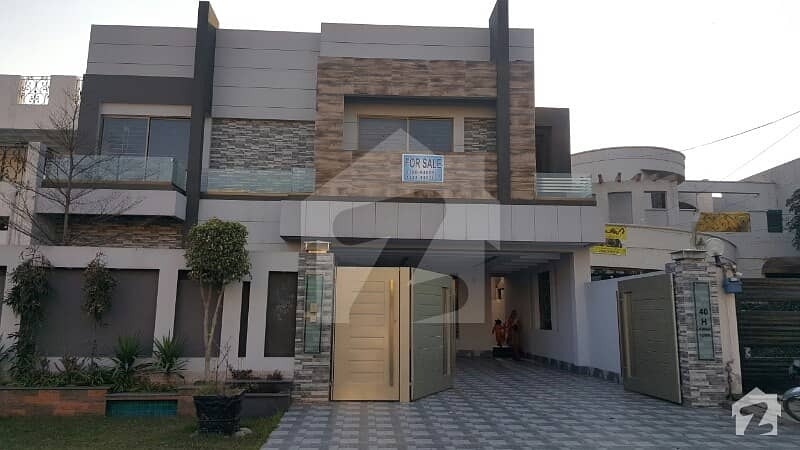 Spanish Brand New 1kanal Double Unit Bungalow For Sale In Johar Town Lahore