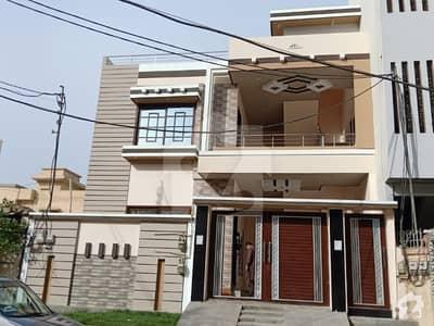 300 Sq Yard  Brand New Double Storey West Open Ultra Luxury Park Facing Modern Bungalow In Vip Block 13 Johar