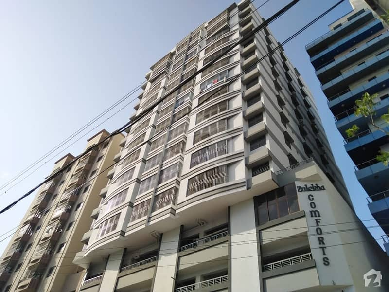 A Well Built Road Facing Zulakha Comfort 4 Bed Flat Is Up For Sale On Main Shaheed Millat Road
