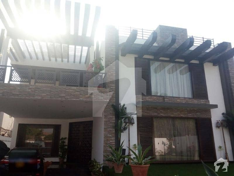 Defence 1000 Sq Yard Fully Renovated Artistic Design Spanish Villa For Sale