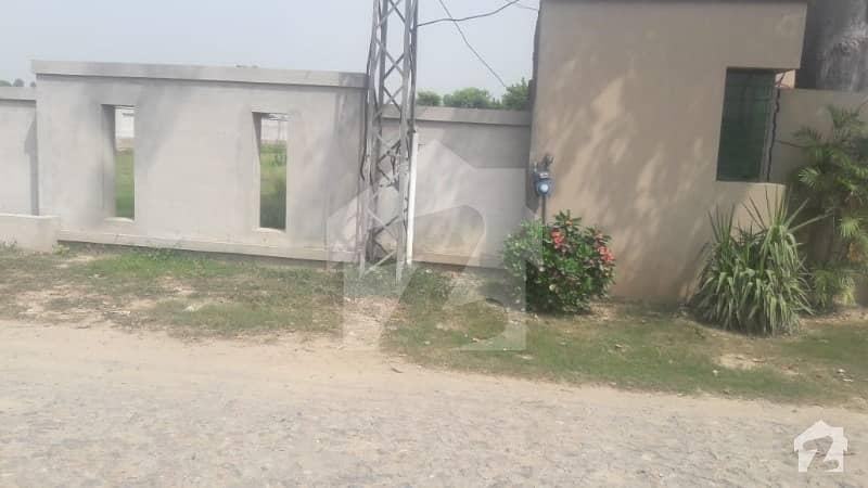 4 Kanal Corner Barki Road Farm House Land Boundary Wall Gate Is Available For Sale