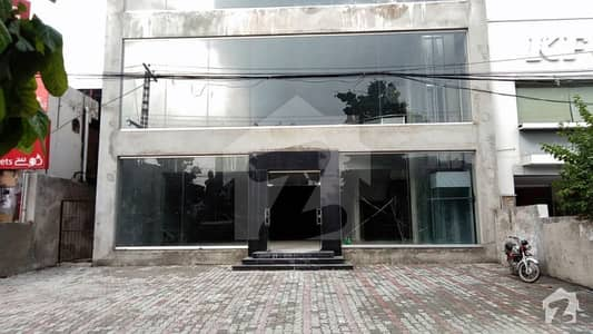 1 Kanal Well Constructed Commercial Building For Sale On Main Boulevard Of Allama Iqbal Town Lahore