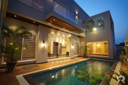 Abid Associate Presents Swiming Pool Most Beautiful Design 1 Kanal Fbm House For Sale