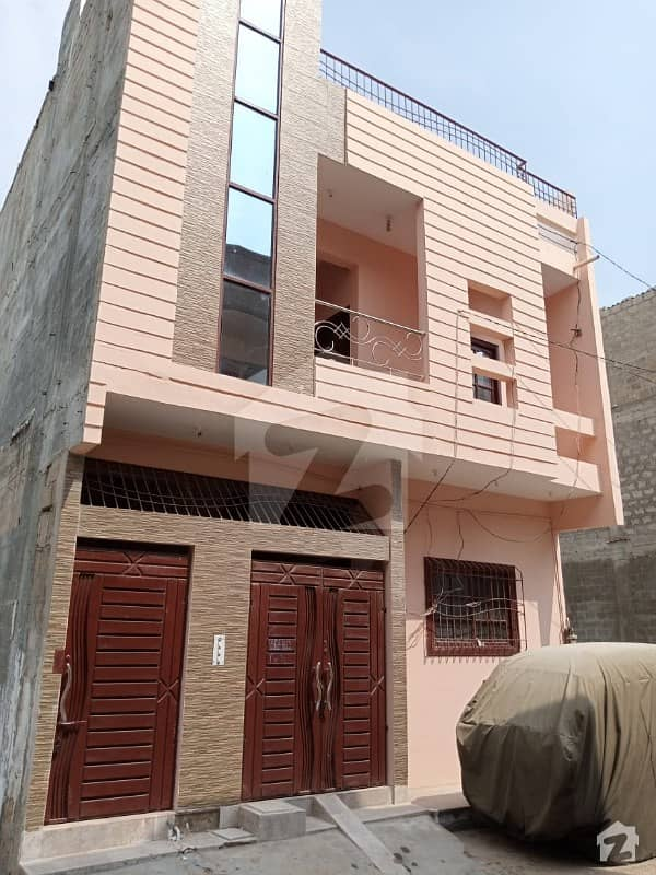 گلشن ملت کورنگی کراچی میں 5 کمروں کا 3 مرلہ مکان 90 لاکھ میں برائے فروخت۔