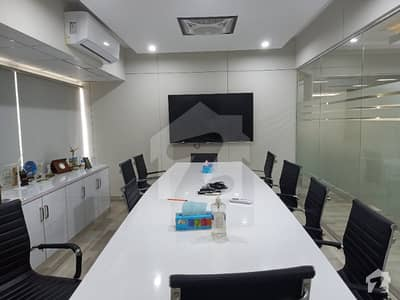 Vip Furnished Office Or Unfurnished Office For Rent 2200 Sq Ft 2 Side Corner  Main Road Entrance No Parking Issue With Lift Back Up Generator