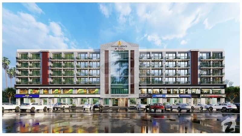 200 Feet Main Boulevard Facing 1 Bedroom Family Apartment available for Sale on easy installment in Orchard Heights Central Block Bahria Orchard Phase 1 Lahore