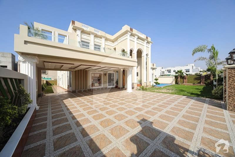 2 Kanal Spanish Bungalow Along With Swimming Pool And Home Theater