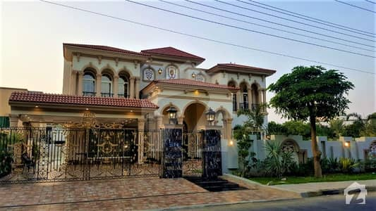 Facing Park Fully Furnished 2 Kanal Bungalow On 100 Feet Road