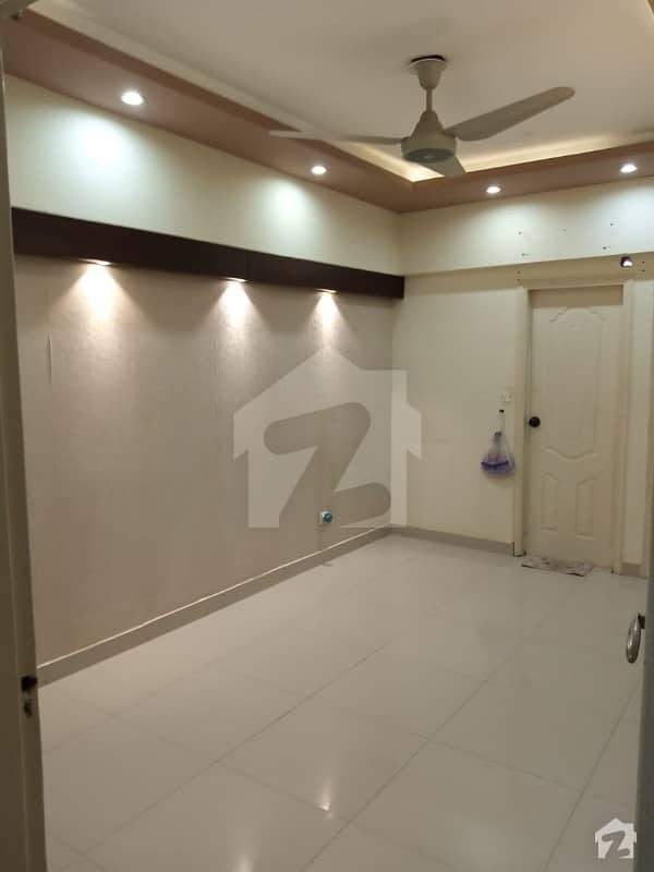 Defence Phase 2 E X T D H A Apartment For Rent 3bed 3rd Floor Tiles Flooring West Open Family Building